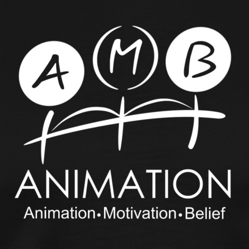 AMB Logo Animation Motivation Belief - Men's Premium T-Shirt
