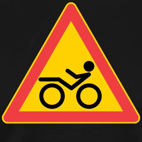Traffic sign Recumbent - Miesten premium t-paita