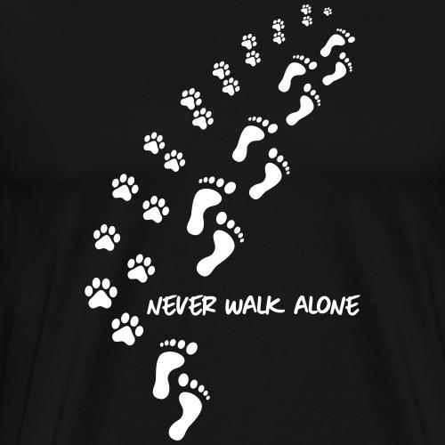 never walk alone dog - Men's Premium T-Shirt