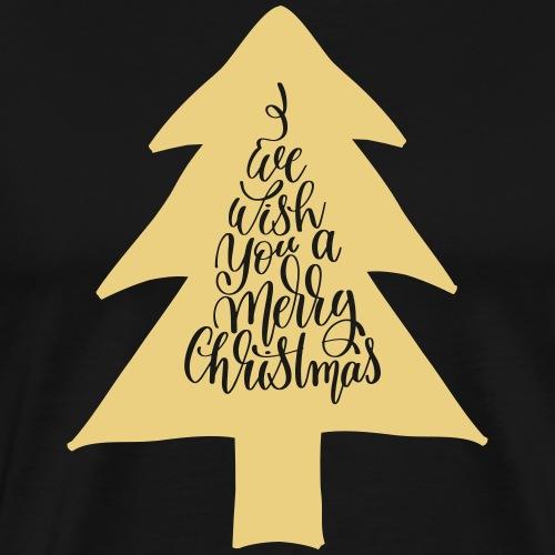 Merry-Christmas-tree - Männer Premium T-Shirt