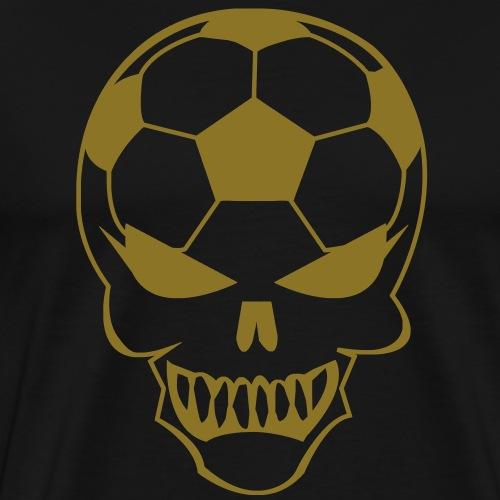Fußball-Totenkopf - Männer Premium T-Shirt