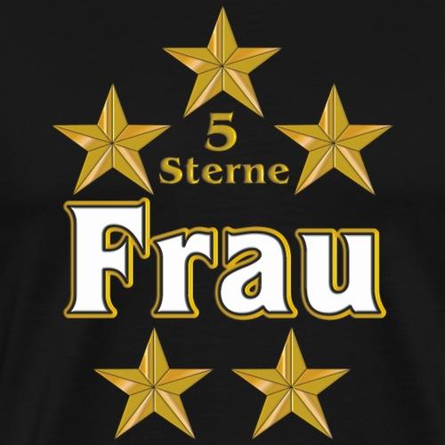 Goldene Serie - 5 Sterne Frau - Männer Premium T-Shirt