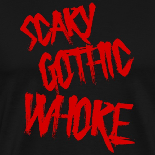 scary gothic whore - Männer Premium T-Shirt