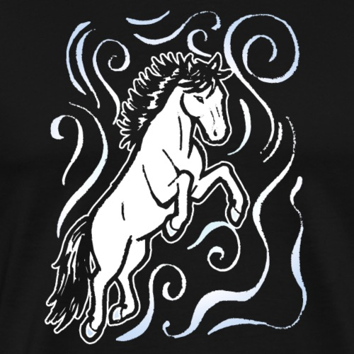 Pferd Elementar Luft Lustig schönes Geschenkidee - Männer Premium T-Shirt