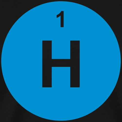 Hydrogen (H) (element 1) - Men's Premium T-Shirt