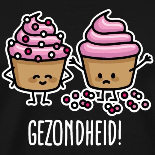 Gezondheid cupcakes spikkels grappige cupcake ziek - Mannen Premium T-shirt