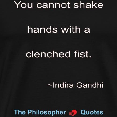 Indira Gandhi Shake hands Philosopher w - Mannen Premium T-shirt