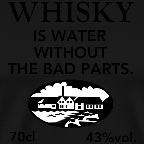 Whisky is water, Label - Männer Premium T-Shirt