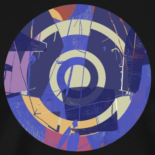 Circle design abstract colour 001 - Mannen Premium T-shirt