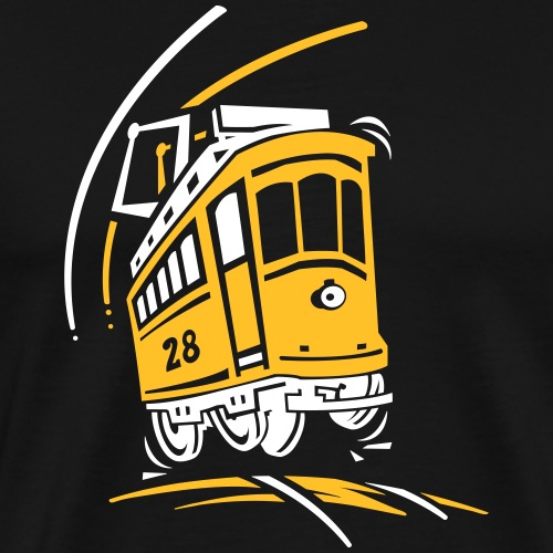 Tramway 28 cartoon Lisbonne - T-shirt Premium Homme