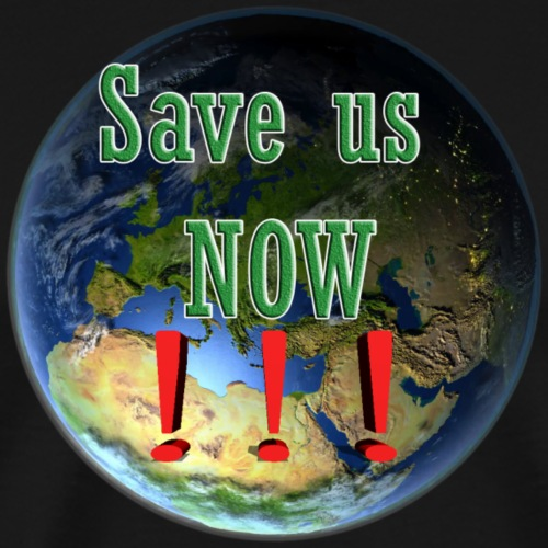save us earth friday for future - Men's Premium T-Shirt