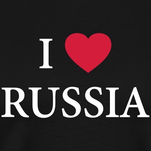 I LOVE RUSSIA – HEART - Männer Premium T-Shirt