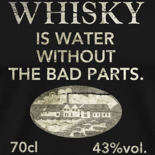 Whisky is water, shabby chic - Männer Premium T-Shirt