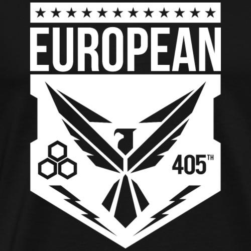 european 405th logo white - Mannen Premium T-shirt