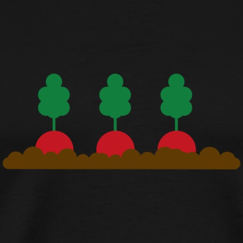 Radieschen im Beet - Männer Premium T-Shirt