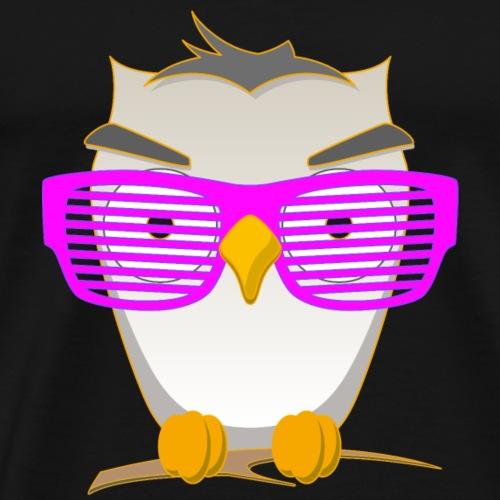 Eule Wald Vogel coole Nerdbrille Geek Big Bang Uhu - Männer Premium T-Shirt