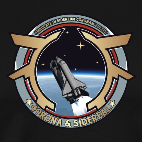 Space Shuttle Corona Sidereal - T-shirt Premium Homme
