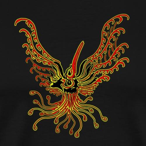 TribalBird redYellow - T-shirt Premium Homme