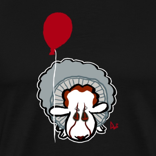 Evil Clown Sheep from IT - Herre premium T-shirt