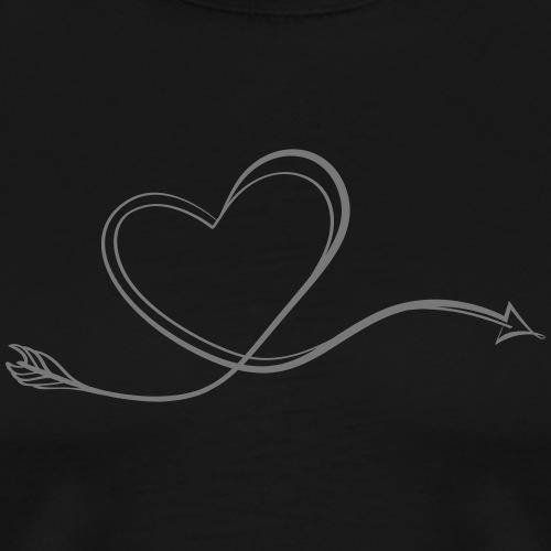 Arrowheart Calligraphy (Bogenschießen by BOWTIQUE) - Männer Premium T-Shirt