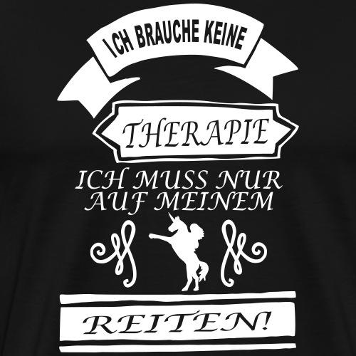 Einhorn Therapie - Männer Premium T-Shirt