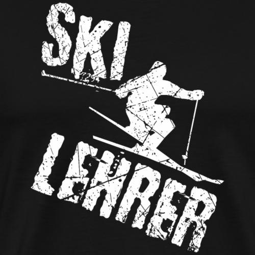 Lustiges Skilehrer Shirt Geschenk - Männer Premium T-Shirt
