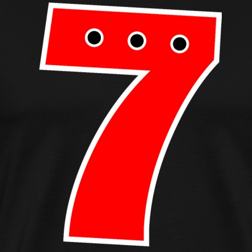 Nummer 7 Rot - Männer Premium T-Shirt