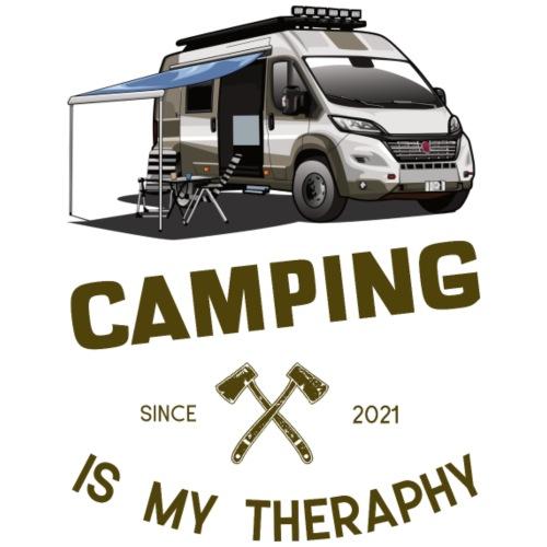 Camping is my Theraphy Kastenwagen - Männer Premium T-Shirt