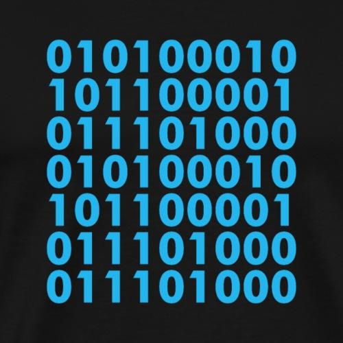 Blockchain Binary - Männer Premium T-Shirt
