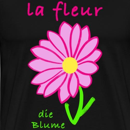 Die Blume auf Französisch/ Deutsch - Männer Premium T-Shirt