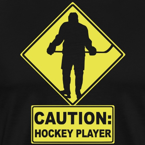 CAUTION: Hockey Player - Men's Premium T-Shirt