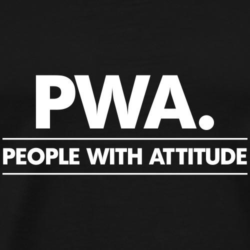 PWA-wit - Mannen Premium T-shirt