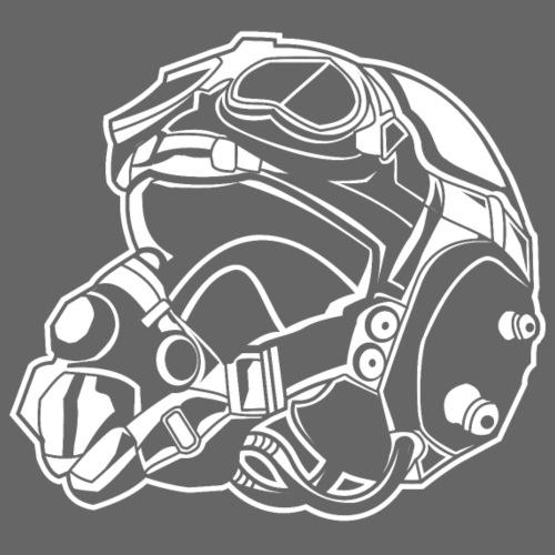 Pilotenhelm / Pilot Helmet 01_weiß - Männer Premium T-Shirt