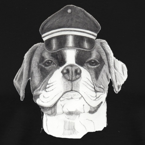 Boxer with cap - Herre premium T-shirt