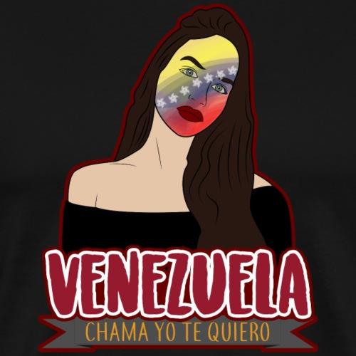 Venezuela!! chama yo te quiero - Maglietta Premium da uomo