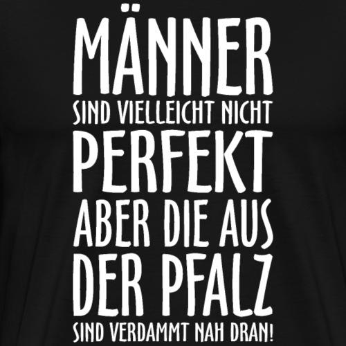 Männer aus der Pfalz Weiß - Männer Premium T-Shirt