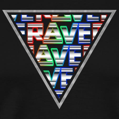 Rave Minimal Logo Techno Events Regenbogen Farben - Männer Premium T-Shirt