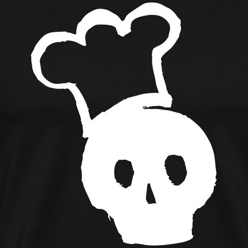 tête de mort casquette de cuisine drôle tatouage cadeau insolence - T-shirt Premium Homme
