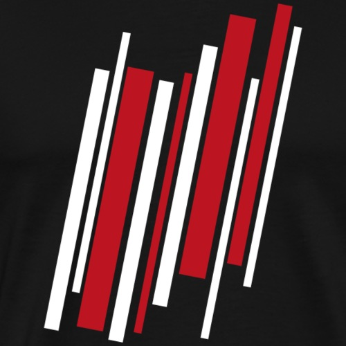 Red-White-Lines - Männer Premium T-Shirt