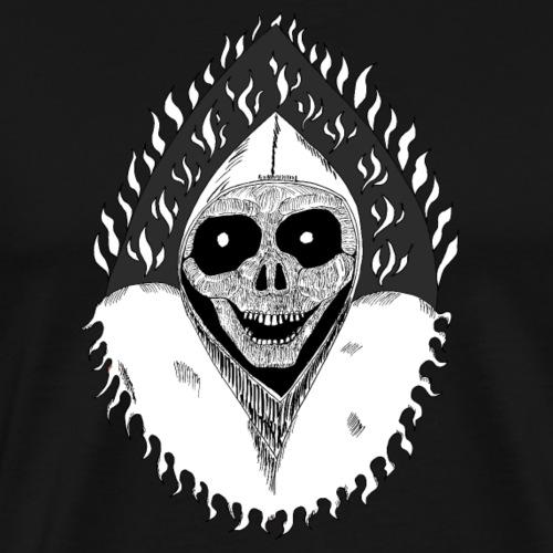 Grimp reaper blank text black & white - T-shirt Premium Homme