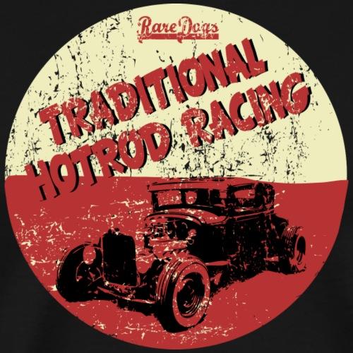 hotrod racing logo - Herre premium T-shirt