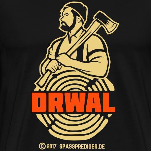 Drwal T Shirt Design Holzfäller Polen - Männer Premium T-Shirt
