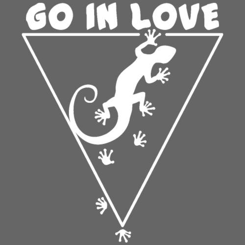 Running Gecko Go in Love 2 - Männer Premium T-Shirt