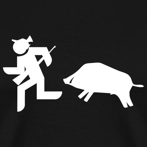 Jäger vs Keiler - Männer Premium T-Shirt