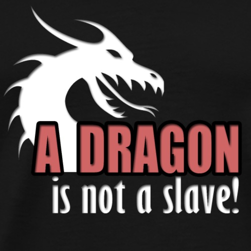 A dragon is not a slave! - Premium T-skjorte for menn