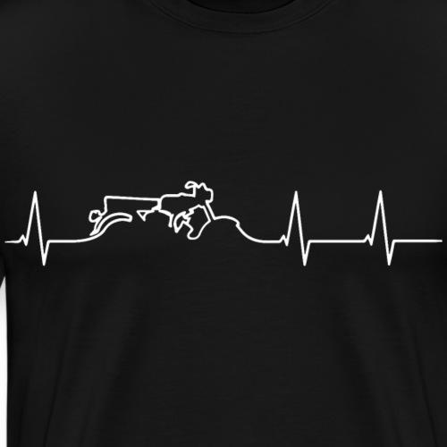 heartbeat s51 white - Männer Premium T-Shirt