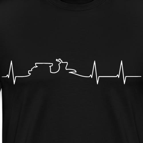 heartbeat schwalbe white - Männer Premium T-Shirt