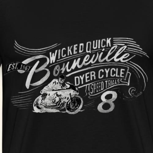 Vintage Cafe Motorcycle Image light - Männer Premium T-Shirt