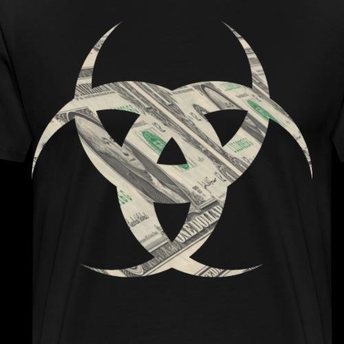 Virus Dollar - Männer Premium T-Shirt