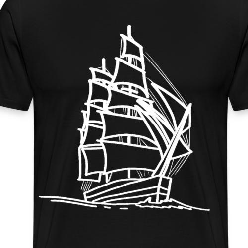 Segelschiff Illustration Meer Schiff Bootsfahrt - Männer Premium T-Shirt